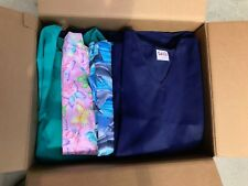 NEW NURSE SCRUBS JACKETS PRINTS ASSORTED LOT OF 25 PIECES