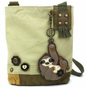 Chala Patch Crossbody Handbag with Detachable Sloth Purse Charm Adjustable