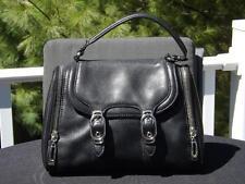 Cole Haan Alexa HO4 Black Leather Satchel Bag Side Pockets