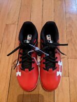 Under Armour Youth Kids Leadoff Low RM Red Baseball Cleats Shoes - Size 4y kids