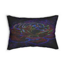 Floral Embosses: Roses 01-01 Spun Polyester Lumbar Pillow