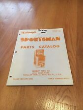 Sportsman Video Arcade Game Parts Catalog, Midway 1973