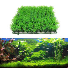 1x Green Plastic Water Grass Plants Lawn Fish Tank Landscape Aquarium Home Decor