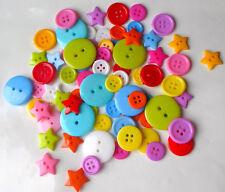 Bottoni Misti Assortiti Bright Estate Colorate Scrapbook Cucito Craft - 100 G