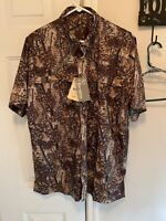 Bushlan Men's Large Vented Camo Shirt Large Hunting NWT NEW WITH TAGS