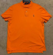 Polo Ralph Lauren Men's Orange Short-Sleeve Classic-Fit Polo Shirt Size M Medium