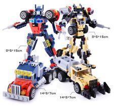 2 Set Gudi Mini Block Transform Megatron Optimus Prime Truck Model Diy Toys Boys