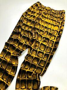 GIANNI VERSACE COUTURE VINTAGE '96 LIZARD PRINTED LEGGINGS SKINNY PANTS SLIM