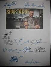 Spartacus Signed TV Script x10 Andy Whitfield Manu Bennett Lucy Lawless reprint