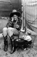 Circus Giant, Dwarf PHOTO Playing Cards Sideshow Freaks Midget Creepy c1930 Pic