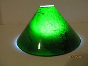 Lot of 2 Candelabra/Track Lighting Emerald Green Short Cone Glass Shades