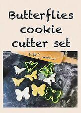 Mariposas Set Reino Unido plástico Bizcocho Masita Cortador Fondant Pastel Decoración Cupcake