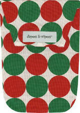 New Diapees and Wipees Diaper and Wipes Clutch Tote Bag Santa Disco Dot Print