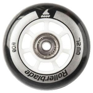 Rollerblade Wheel Kit 72mm/80A Wheels + SG5 Bearings | 8 Wheels, 16 Bearings, 8