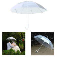 White Clear Transparent Rain Umbrella Dome Party Wedding Umbrella Automatic
