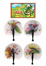 12 Paper Chinese Folding Hand FAN Party Bag Filler Loot Wedding Kids Gift Favour