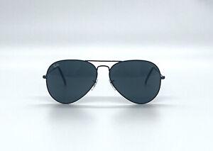 Ray-Ban AVIATOR LARGE METAL RB3025 Black Frame Black Lenses 62mm Lens Sunglasses