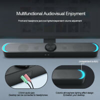 Bluetooth Wired Computer Speakers Stereo Super Bass Player For PC Desktop Laptop