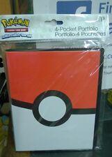 Pokemon Poke ball Pokeball 4 Pocket Page Portfolio Album Binder New