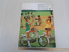 BROCHURE DEPLIANT ORIGINALE PIAGGIO CIAO BRAVO BOXER 2 50 1976