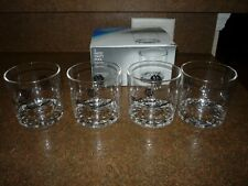Set of 4 Heavy Duty Plastic Old Fashioned Size Glasses With GE Emblem