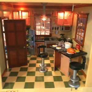 Dollhouse/Kitchen/Lights/Sounds/Furniture/Access/Complete/Jazwares/Room by Room