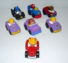 Lot Set Of 6 Little People And 1 Batman In Cars