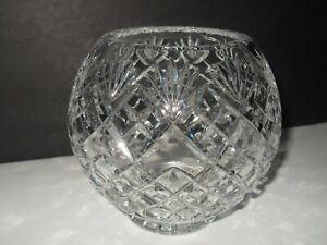 Crystal Rose Bowl Globe Shape Floral Flower Vase Heavy