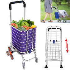 Stair Climb Rolling Folding Shopping Trolley Cart w/ Bag Grocery Climber Laundry