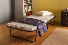 Westwood Single Metal Folding Guest Visitor Compact Bed With Mattress Fold out