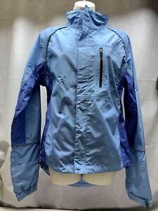 Endura Women's Jacket Blue Cycling L Bike Lightweight Windproof Activewear KG