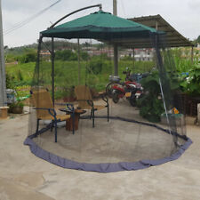 Outdoor Garden Parasol Mosquito Net Patio Straight/Bent Umbrella Sunshade Cover