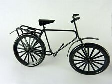 Dollhouse Miniature Large Black Metal Bike, B0186