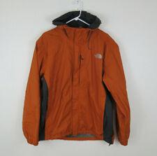 The North Face Mens L Orange Gray Hyvent Shell Hood Full Zip Light Rain Jacket P