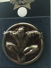 Universal Studios Pin Trading Spiderman Red Metal Pin New with Card