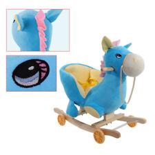 NEUE Schaukeltier Spielzeug Schaukelpferd Plüsch Blaues Schaukel Pferd Baby Gift