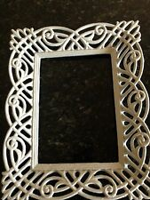 Antique Vintage Ornate Off White CAST IRON Picture Frame 5 x 7 (inside) 8x10 out