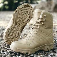 Men Military Outdoor Boots Non-Slip Tactical Leather Trainer Desert Combat Boots