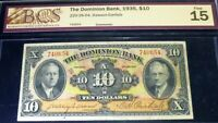 1935 $10 ,THE DOMINION BANK