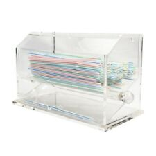 Countertop Straw Dispenser, Clear Acrylic Restaurant Diner Bakery Bpa free
