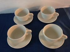 Mayer Beaver Falls, Pa White Cups and Saucers Set 4 # 373