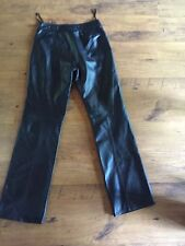 Alberto Fabiani Soft Leather  Boot Cut Pants Sexy Fitted