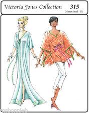 Caftan w/3 Neckline, 5 Length Options - Victoria Jones Easy Sewing Pattern 315