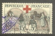 """FRANCE STAMP TIMBRE N° 156 """" CROIX ROUGE, INFIRMIERE 15c + 5c """" OBLITERE TB"""