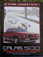 1985 Olds Calais 500 Pace Car Brochure 85