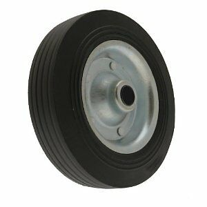 Maypole Caravan & Trailer Spare Jockey Steel Wheel with Solid Rubber Tyre -200mm