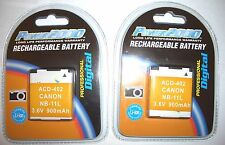 TWO Batteries for Canon A2400IS A3400IS A4000IS A4050IS IXUS 240 HS 125 HS 125HS