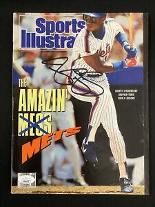 Darryl Strawberry Signed Sports Illustrated Magazine 7/9/90 Mets Autograph JSA