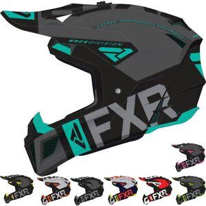 FXR Mens Racing Division Bike Motocross Helmet - Off Road Dirt F20 Clutch Evo