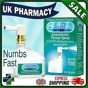 Ultra Chloraseptic Anaesthetic Sore Throat Spray Original Menthol 15ml - UK FAST